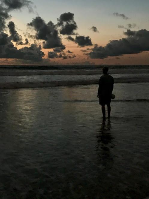 Dusk seaside