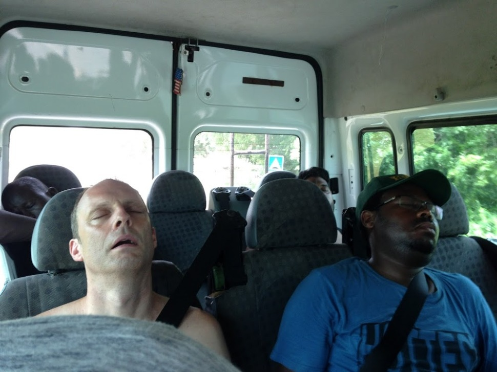 sleeping in van